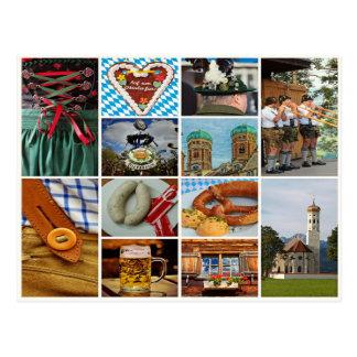 Bayern, oktoberfest, München, bayerische Collage Postkarte