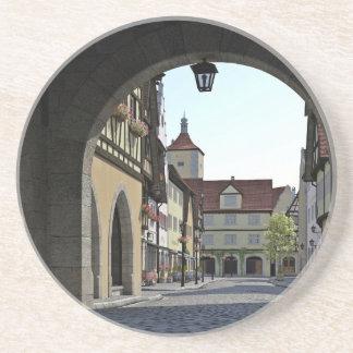 Bayern-Stadt durch einen Bogen Sandstein Untersetzer