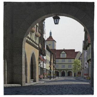 Bayern-Stadt durch einen Bogen Serviette