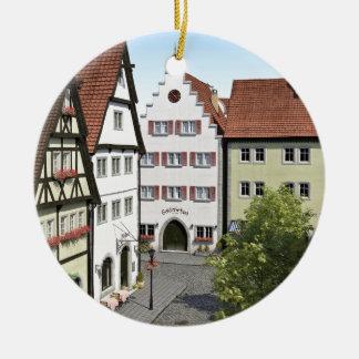 Bayern-Stadt von oben Rundes Keramik Ornament