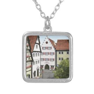 Bayern-Stadt von oben Versilberte Kette