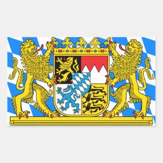 Bayern-Wappen Rechteckiger Aufkleber