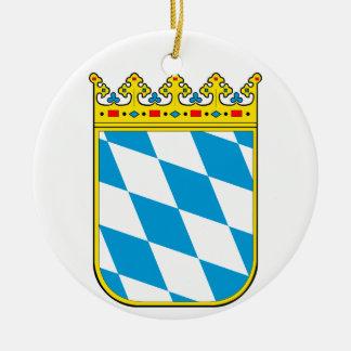 Bayern Wappen Rundes Keramik Ornament