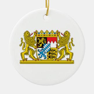 Bayern-Wappen Rundes Keramik Ornament