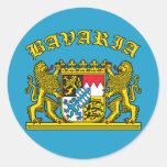 Bayern-Wappen T-Shirts und Produkte Runde Sticker