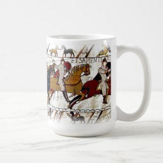 Bayeux-Tapisserie-Szenen-Tasse Kaffeetasse