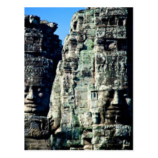 Bayon Tempel in Angkor Kambodscha zwei Gesichter Postkarte