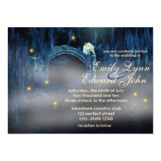 Bayou-Glücks-blonde Hochzeits-Einladung Karte