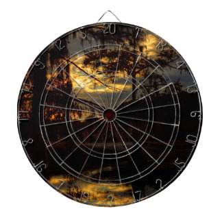 Bayou-Sonnenuntergang-Reflexion Dartscheibe