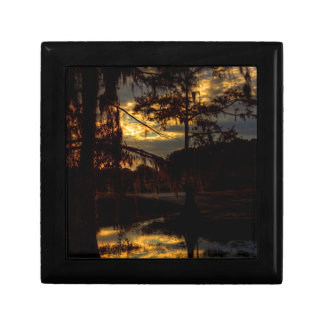 Bayou-Sonnenuntergang-Reflexion Erinnerungskiste
