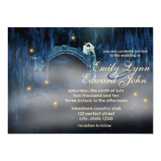 Bayoubliss-brünette Hochzeits-Einladung Karte
