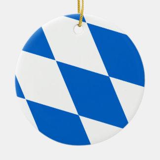 Bayrische Flagge Bayern Rundes Keramik Ornament