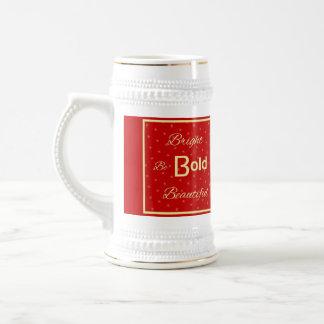BBB helle mutige schöne inspirieren rotes Gold Bierglas
