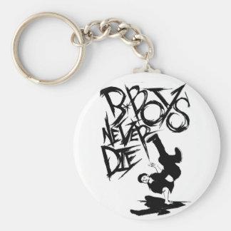 BBOY DIE NIE! @ Keychain Standard Runder Schlüsselanhänger
