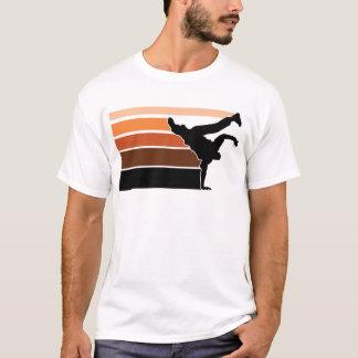 BBOY Steigung orgn Schwarzes T-Shirt
