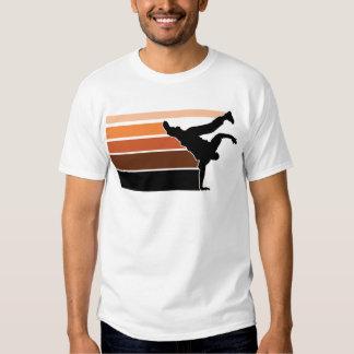BBOY Steigung orgn Schwarzes T-Shirts