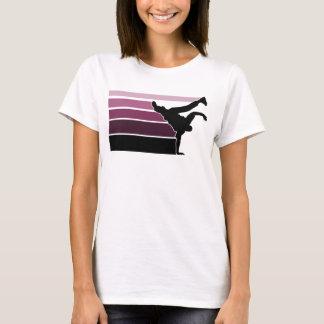 BBOY Steigung prpl Schwarzes T-Shirt