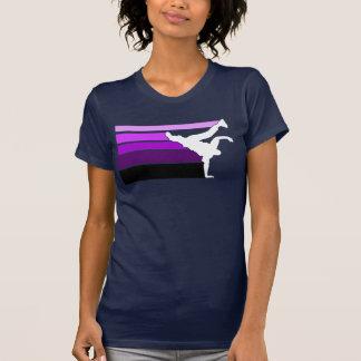 BBOY Steigung prpl weiß T Shirts