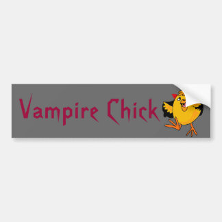 BC- lustiger Vampire-Küken-Autoaufkleber