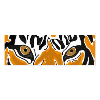 BC- mustert Tiger Lesezeichen Visitenkartenvorlagen