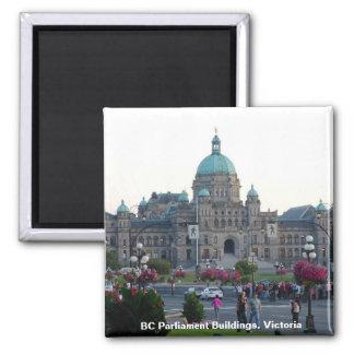 BC Parlaments-Gebäude/Victoria BC Kanada Quadratischer Magnet