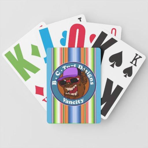 """BC Rasen designs_ """"freches Sasquach"""" Kartenstapele Spielkarten"""