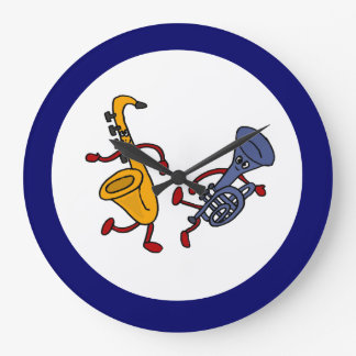 BC- Saxophon-und Trompete-Tanzen-Wanduhr Große Wanduhr