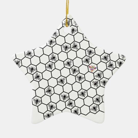 be bee different bees biene wabe imker honey keramik ornament