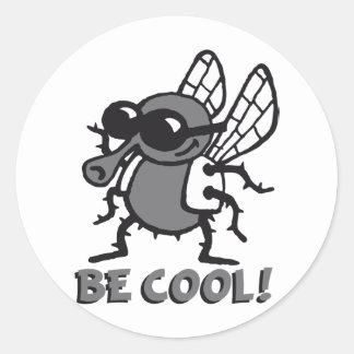 be cool fly 3c runder aufkleber