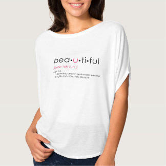 Bea•u•Ti•ful Grafik-T-Stück T-Shirt