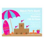 Beach Party Surfboard Swimming Birthday Invitation