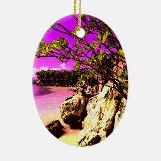 Beach Pink Keramik Ornament