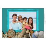 Beach Shells Family Photo Frame Holiday Cards Grußkarte