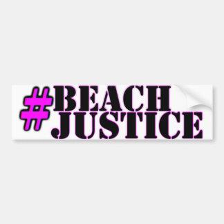 #Beachjustice Stolzaufkleber Autoaufkleber