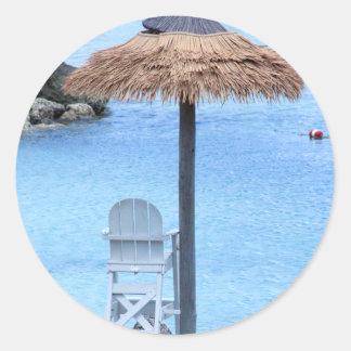 Beachy Einladungsaufkleber Runder Aufkleber
