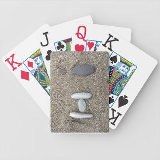 Beachy Kunst-Sand-Felsen-hallo einfaches Bicycle Spielkarten