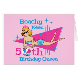 Beachy scharfer 50. Geburtstag Karte