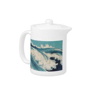 Beachy Wellen-japanische Kunst-hölzerner Druck