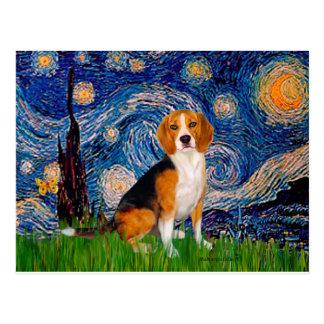 Beagle 7 - Starry Nacht Postkarte