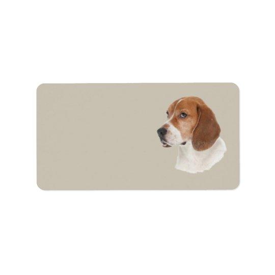 Beagle-Adressen-Etikett Adressaufkleber
