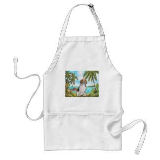 Beagle auf Ferien-tropischem Strand Schürze