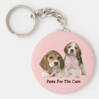 Beagle-Brustkrebs Keychain Standard Runder Schlüsselanhänger