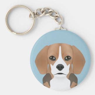 Beagle-Cartoon Schlüsselanhänger