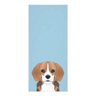 Beagle-Cartoon Werbekarte