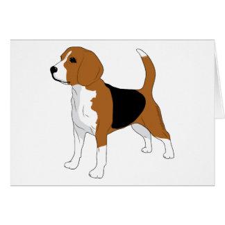 Beagle, der stehenden Hund zeichnet Karte