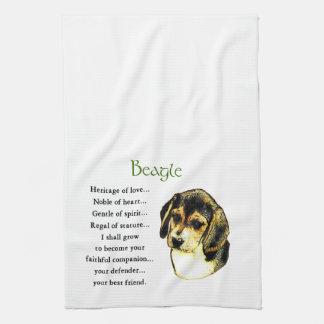 Beagle-Erbe der Liebe Handtuch