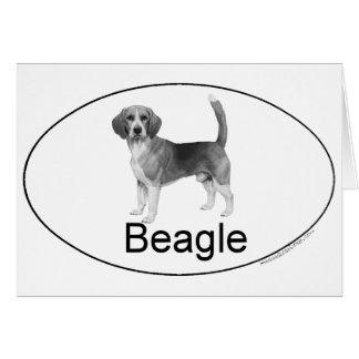 Beagle Euro-artig Karte