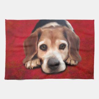 Beagle-feine Kunst-Hundekunst-Malerei Geschirrtuch