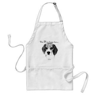 Beagle-glückliches Gesicht Schürze