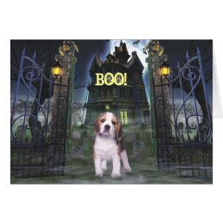 Beagle-Halloween-Gruß-Karte Karte